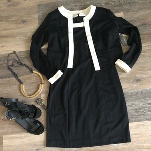 NWT Two Piece Shift Dress Suit with Jacket